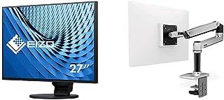 【セット買い】EIZO FlexScan 27.0インチ ディスプレイモニター (4K UHD/IPSパネル/ノングレア/ブラック/USB Type-C搭載/5年間保証&無輝点保証) EV2785-BK & エルゴトロン LX デスクマウント ...
