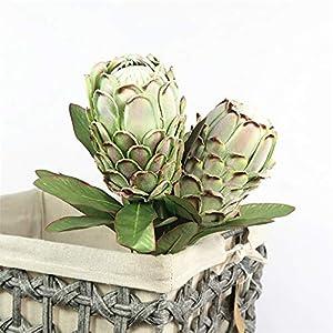 YESBAY Artificial Poinsettia Flowers Artificial Protea Cynaroides Flower Plant DIY Garden Party Wedding Decor
