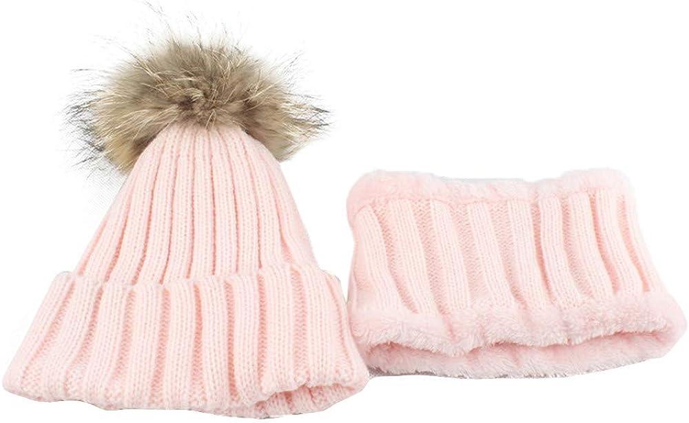 Yixda Damen M/ütze Beanie Hut Schal Set Warme Strickm/ütze Winterschal