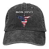 B-o-n Jo-v-i Denim Hat Fashion Can Adjust Denim Cap Baseball Cap Unisex