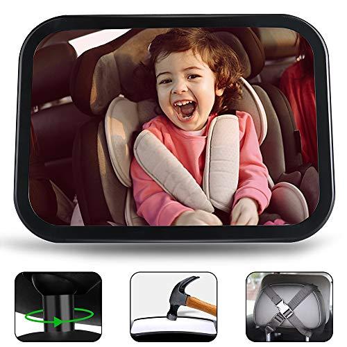 Jasonwell Espejo Retrovisor Espejo de Bebé Espejo para Bebe Auto Espejo Retrovisor Bebe Automovil Grande Accesorios para Autos Espejo de Carro Monitoriza de Forma Segura Niño para el Asiento Trasero