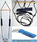 H&K-Sportperformance Schlingen Suspension Functional Sling Trainer inkl. Abstandshalter mit royalblauen Schlaufen