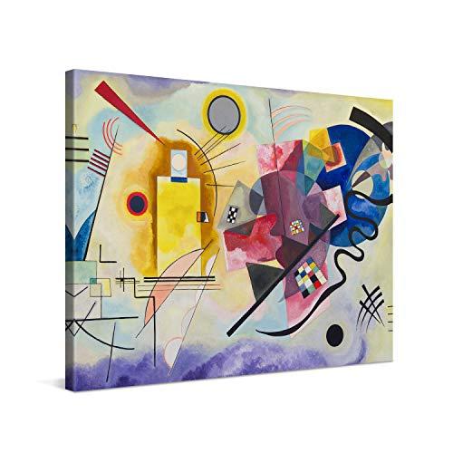 PICANOVA – Wassily Kandinsky – Yellow Red Blue 80x60cm – Cuadro sobre Lienzo – Impresión En Lienzo Montado sobre Marco De Madera (2cm) – Disponible En Varios Tamaños – Colección Arte Clásico
