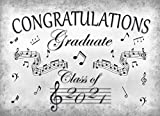Congratulations Graduate Class Of 2021: Senior Graduation Party Sign In Guest Book / Memories & Stories, Message For The Grad / Musical Notes Theme