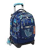 Mochila escolar de los Vengadores Heroes de 3 ruedas nueva colección + estuche de 3 pisos cremallera completo + llavero silbato + regalo bolígrafo con purpurina