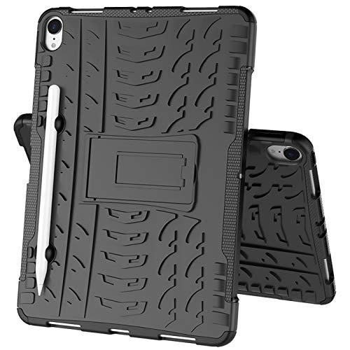 Verco Hülle für iPad Pro 11 Zoll 2018 Modell, (Kompatibel mit Apple Pencil 2. Gen) Outdoor Schutzhülle Armor Tablet Case Cover, Schwarz