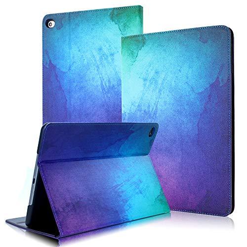 FAN SONG Funda para iPad 2/3/4, Carcasa Pintura Piel Sintética a Prueba de Golpes con Función Atril y Auto Estela/Sueño para Apple iPad 2 3 4 Generación(Illusion)