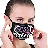 ❣Material: Made of 100 % Polyester, super soft and breathable, will not rub your face. Can be cleaned many times, recycled, health and environmental protection. The Mouth Masks Is Super Soft And Breathable, Does Not Affect Breathing And Speaking, Can...