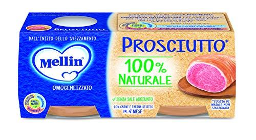 Mellin Omogeneizzato di Prosciutto 100% Naturale – 24 Vasetti da 80 gr