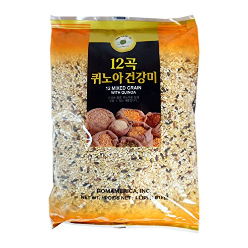 ROM AMERICA 12 Premium Mixed Grains with Quinoa Sweet Brown Rice Whole Barley 4 Pound - 12곡 퀴노아 영양미 잡곡