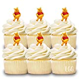 24 Mini Cupcake Toppers WINNIE THE POOH/Birthday Party/Cake Decorations