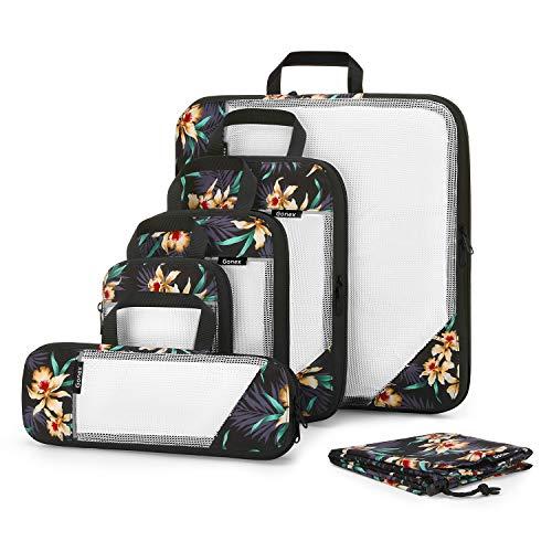 Gonex Organizador para Maletas Viaje Equipaje, Bolsas Cubos Embalaje Almacenaje Compresión para...