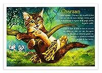 フランス製 キャットポストカード (Charzan) ターザン CPK118