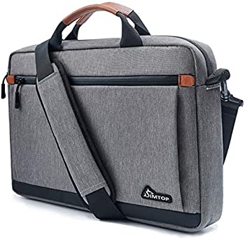 Laptop Briefcase Bag for 13-14 inch Display Screen Notebook with Leather Grips Crossbody Shoulder Sleeve Case Bag Design for the Business Travel Commuter College Student Office Staff