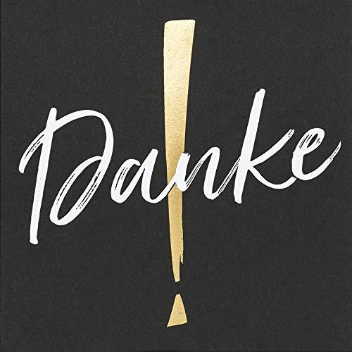 Dankeskarte Black&Gold - Dankeskarte - 15 x 15 cm