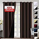 Flamingo P 100% Blackout Curtains 84 inches Long Lined Curtains 84...