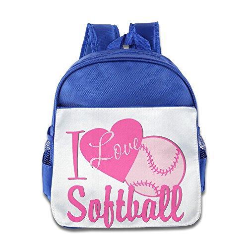 jxmd Custom Superb Love Softball niños y niñas schoolbag para 1–6años old azul eléctrico