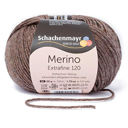 Schachenmayr Handstrickgarne Merino Extrafine 120, 50G Holz Meliert