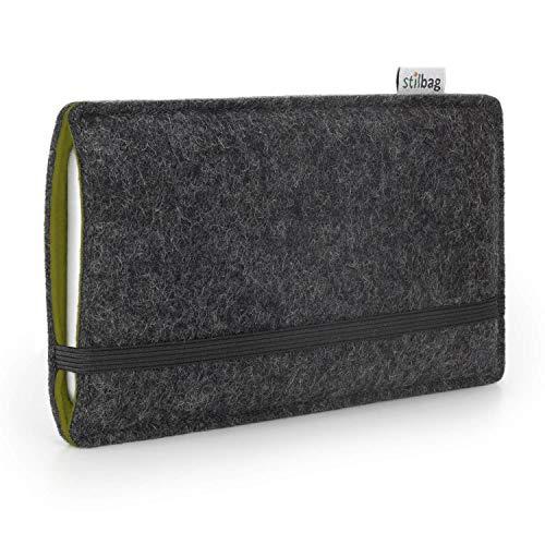 stilbag Funda de Fieltro 'Finn' para Apple iPhone 11 Pro   Color: Antracita/Caqui   Bolsa de Fieltro para Smartphone   Cubierta para móvil   Made in Germany