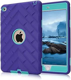 iPad mini 4 Case, iPad A1538/A1550 Case, Hocase Rugged Shockproof Anti-Slip Hybrid Hard Shell+Silicone Rubber Bumper Protective Case for Apple iPad mini 4th Generation 2015 - Purple/Teal