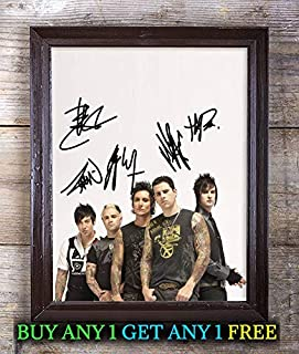 Avenged Sevenfold Nightmare Autographed Signed Reprint 8x10 Photo #91 Special Unique Gifts Ideas for Him Her Best Friends Birthday Christmas Xmas Valentines Anniversary Fathers Mothers Day