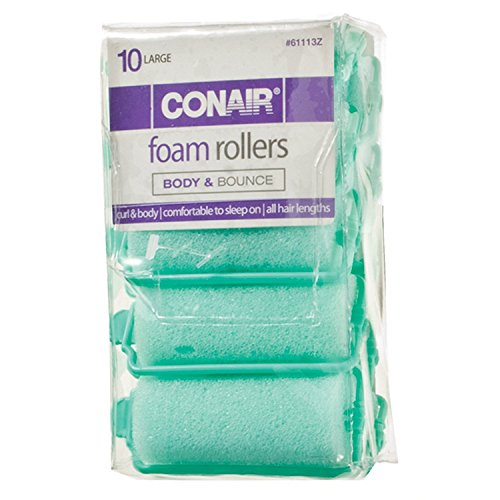 Conair 10Piece Con Large Foam Rollers, 1.6 Oz