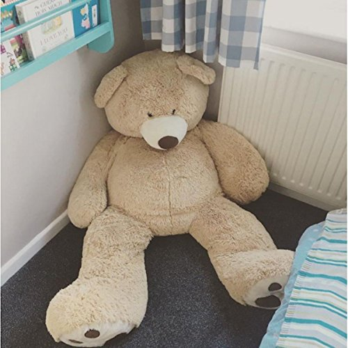 Bananair Riesen Teddybär (130cm to 340cm) XXL Großer Riesiger Teddy Bear Stofftier Perfekt für Geburtstag, Geschenk, Weihnachten, Spielzeug Plüschtiere (130 Zentimeter)