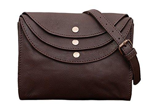 PAUL MARIUS LA MINAUDIÈRE Tiefdunkelbraun Handtasche Vintage-Stil aus Leder Damentasche