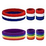 ZERHOK Serre-Poignets Bracelets Poignet, Bracelets éponge Sport,Bandeau Running pour Absorption et...