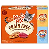 Meow Mix Grain Free Wet Cat Food, Poultry and Seafood Variety Pack, 2.75 Ounce Cup (Pack of 12)