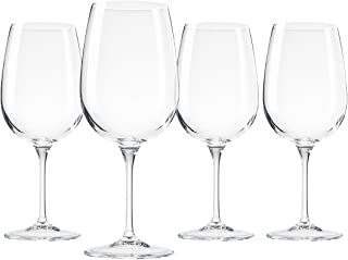 Bormioli Spazio Large Wine Glasses, Clear, 17 oz (Set of 4)