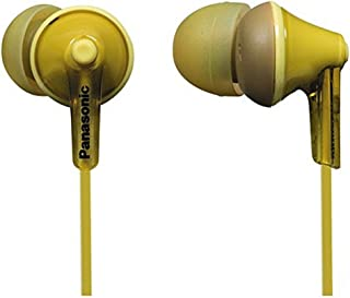 Panasonic RP-HJE125E-Y In-ear hoofdtelefoon (drie paar paspoortstukken, 10-24.000 Hz, 1,1 m kabel) geel
