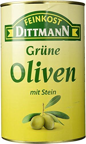 Feinkost Dittmann Grüne Oliven mit Stein, 1er Pack (1 x 4 kg)