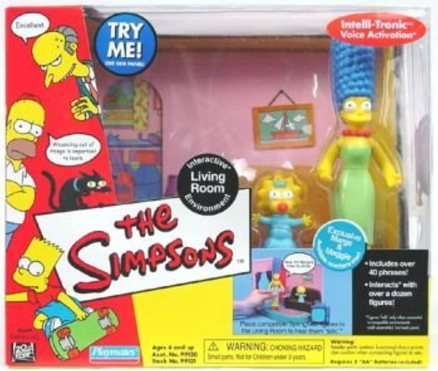 a precios asequibles The Simpsons Living Room Jugarset Jugarset Jugarset with Exclusive Marge & Maggie by Simpsons  marca