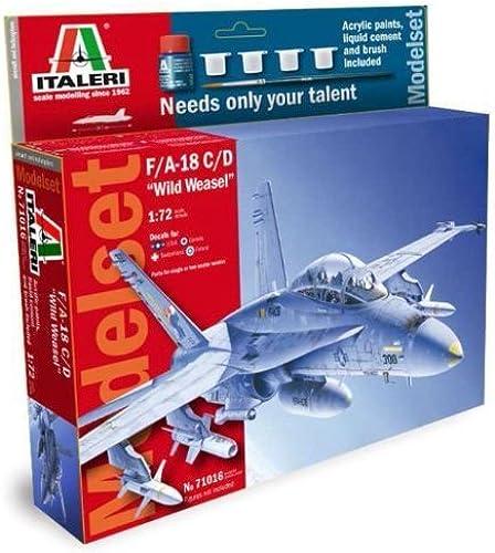 cómodamente Italeri Italeri Italeri 1 72 F A-18 C D  Wild Weasel  Gift Set   71016 by Italeri  con 60% de descuento
