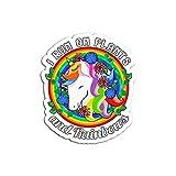 Pegatina de Madera Personalizable con Texto I Run On Plants and Rainbowws para Veganos o Vegetarianos (3 Piezas/Paquete)