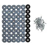 MaxAwe 50 Stücke Teflongleiter, Teflon Möbelgleiter zum Schrauben PTFE Gleiter, Furniture Glides mit Schraube