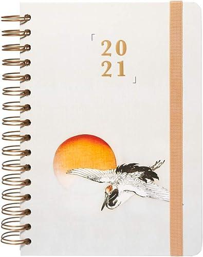 Erik® Agenda Semainier 2021 Inspired by Japan | Agenda Spiralé, Weekly Planner | 14,8 x 21 cm