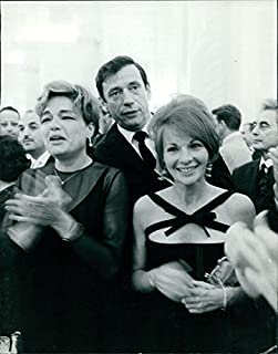 Vintage photo of Simone Signoret with husband Yves Montand.