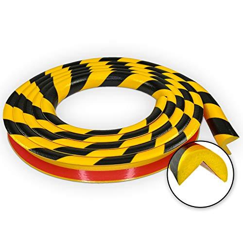 Betriebsausstattung24® Eckschutzprofil Typ A | gelb/schwarz | selbstklebend | Länge: 5,0 m