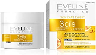 EVELINE 3OILS plus PEPTIDES DEEPLY NOURISHING DAY/NIGHT CREAM 50ML