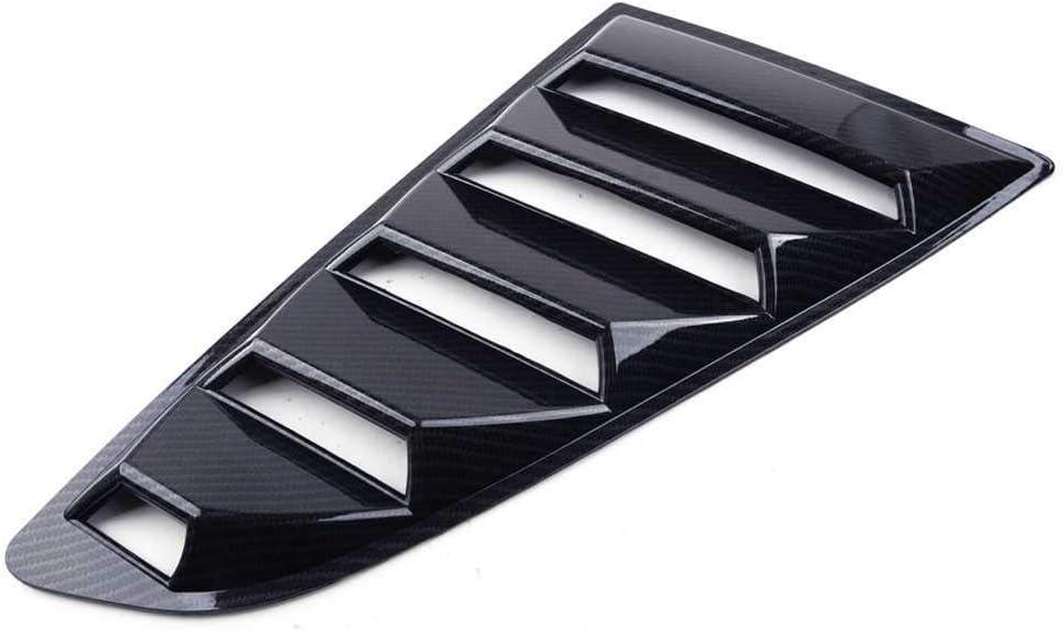 Fit f/ür Ford Mustang 2015 2016 2017 XQRYUB Autozubeh/ör Heckscheiben Seitenschlitze Luftschlitze Abdeckung