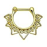 Nariz anillo de tabique Clicker nariz anillo Piercing Nariz cadenas cadena plegable