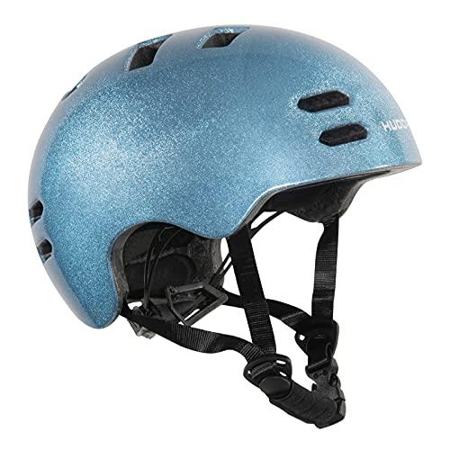 Hudora Unisex Jugend Reflect Helm, Blau, S