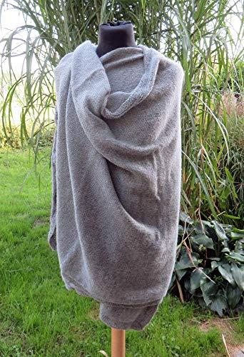 ALPAKA-PASHMINA aus 100% Baby-Alpaka hellgrau | Alpaka-Accessoire byond the ordinary