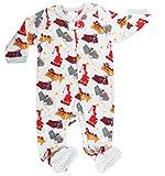 elowel | Pijama Ninos | Ropa De Dormir De Lana Caliente| 1 Pieza | Pijama De Pie | Cálido Y Tierno | 100% Poliéster | Tamaño: 5 Años (110) | Colro: Multicolor | Diseño: Camión De Arena