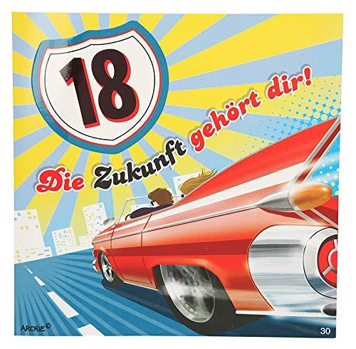 Depesche 3868.030 Glückwunschkarte mit Musik, 18. Geburtstag, Mehrfarbig