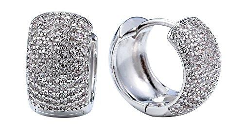 Electroform Silver Rose Boucles D/'oreilles Genuine Sterling 925 Bijoux Cadeau hauteur 21 mm