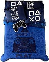 JORGE'S HOME FASHION INC PS4 Video Game Teens-Kids Boys Original Licensed Reversible Comforter Set 2 PCS Twin Size