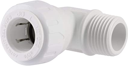 JG Speedfit PSEI482024P 1/2-Inch CTS by 1/2-Inch NPT Male Fixed Elbow